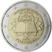 Portugal 2€ 2007 Rooma leping
